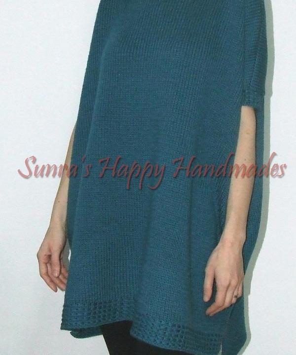 Rochie-pulover turcoaz