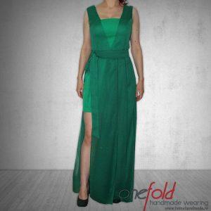 Rochie din voal verde smarald fld