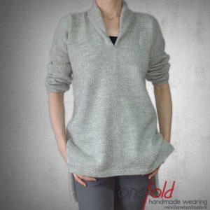 pulover simplu gri fld