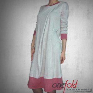 rochie cu mansete colorate fld