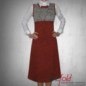 rochie lunga fara maneci in doua culori