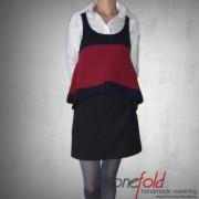 vesta bicolora tricotata